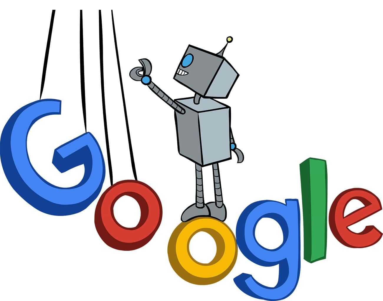 photo of flagstone sm's bot mascot on google lettering suspended in air