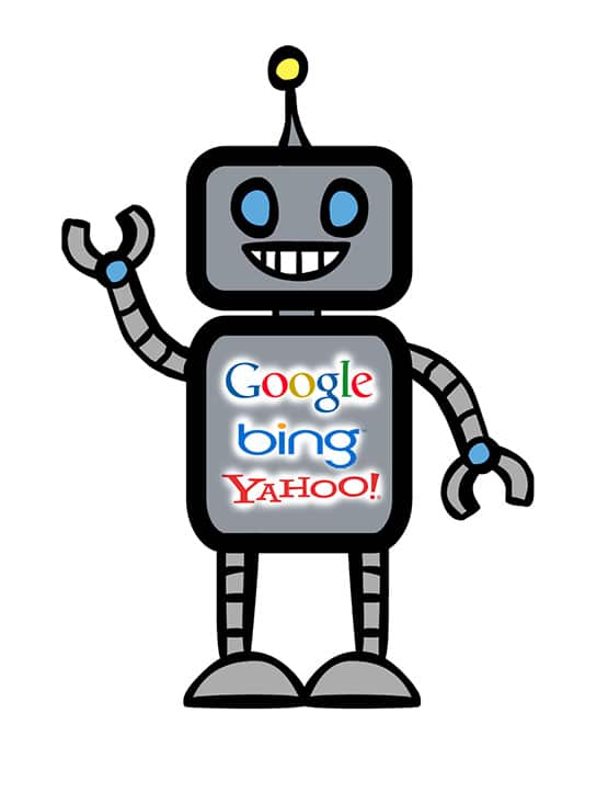 photo of a search engine bot with google bing yahoo to represent search engine optimization services in birmingham alabama