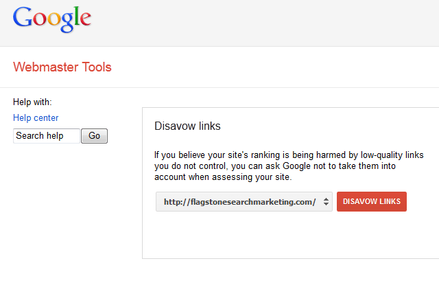 google webmaster tools disavow links