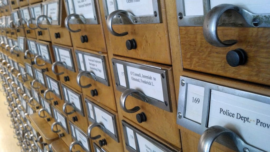 photo of library drawers