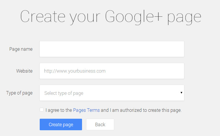 create google plus my business page