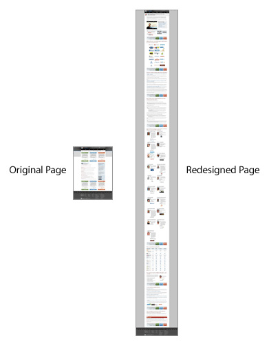 content length for conversion on landing page seomoz example