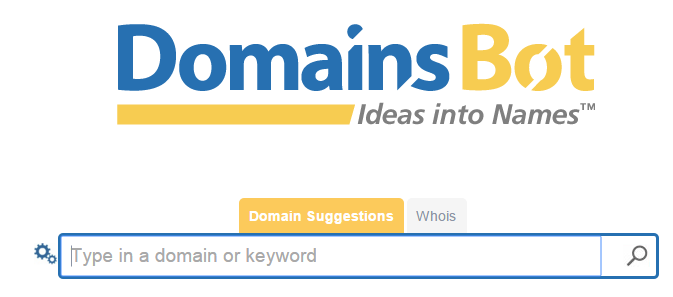 choosing domain name with domainbot