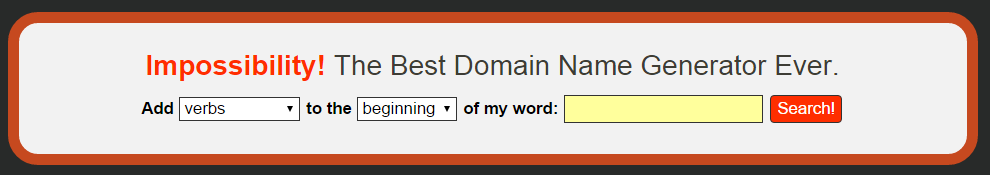 domain name picker impossibility