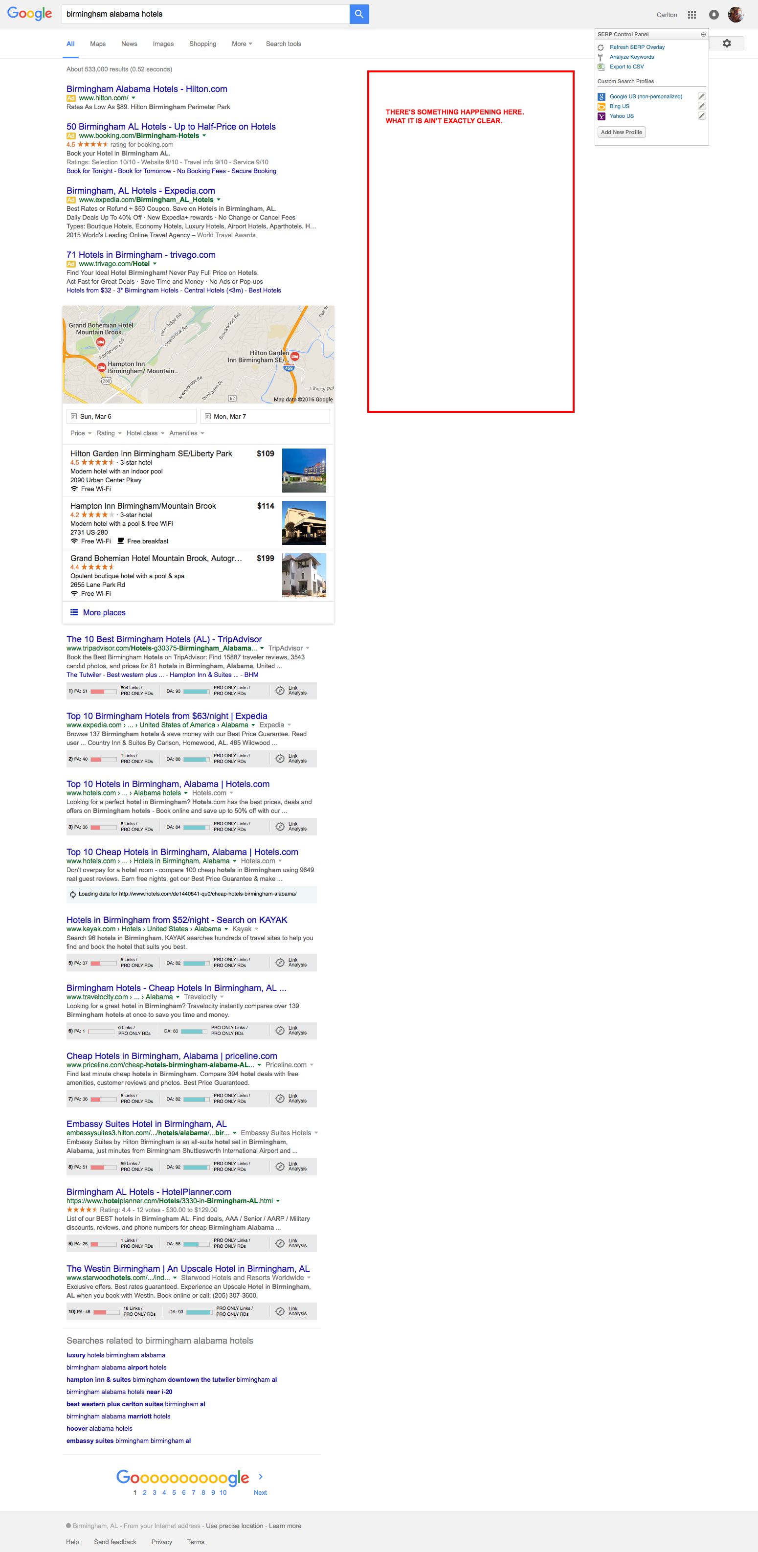 google serps change removed right sidebar ads on desktop