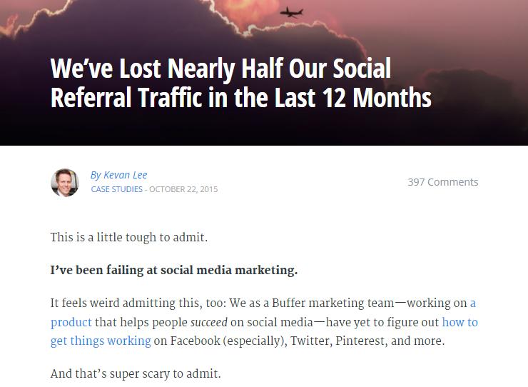 buffer admits lost social media traffic