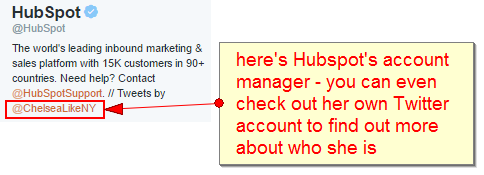 here is hubspots manager - you can check her Twitter account