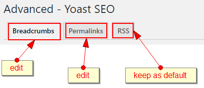 yoast advanced menu