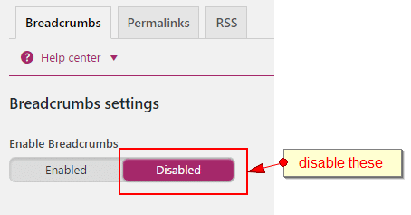 yoast breadcrumbs disable