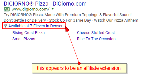 this appears to be an affiliate extension - where to get Digornio pizza at 7-11 in denver