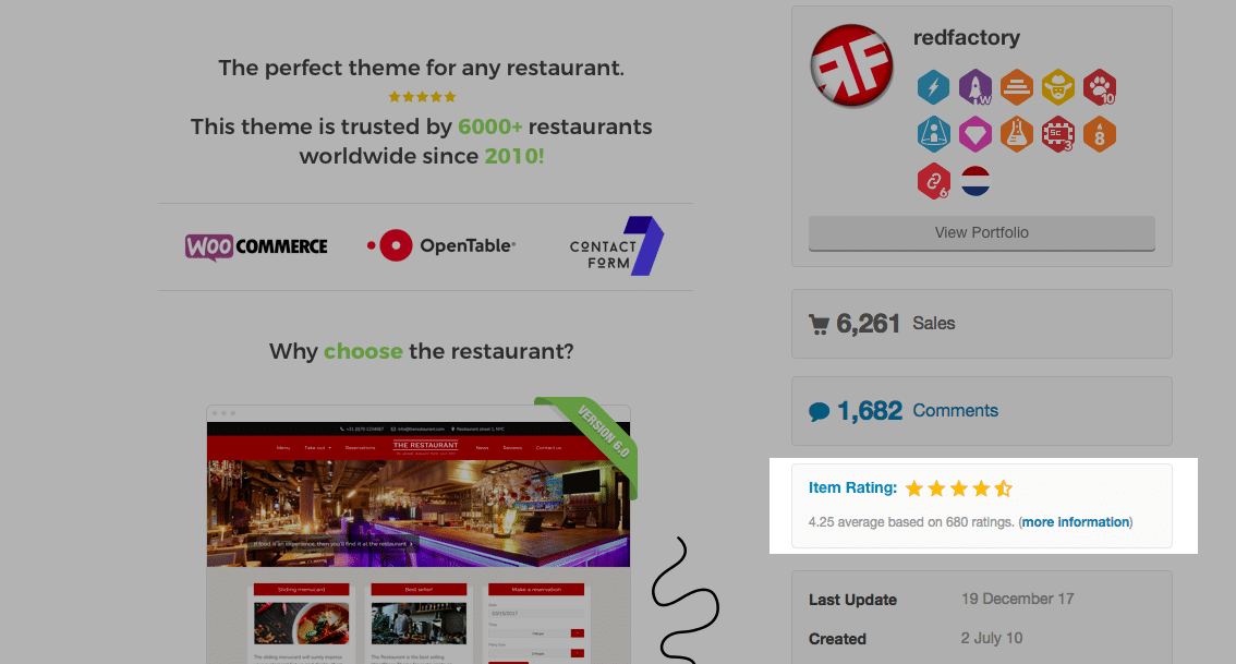 The Restaurant Example - Reviews and Ratings